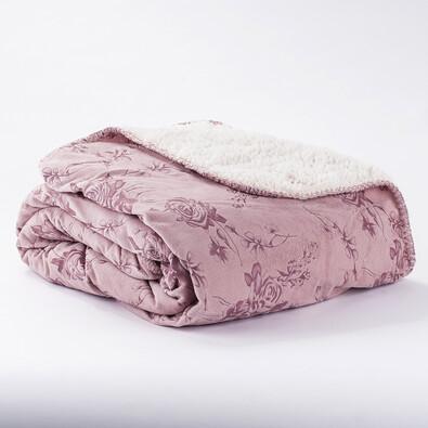 Beránková deka růžová, 140 x 200 cm