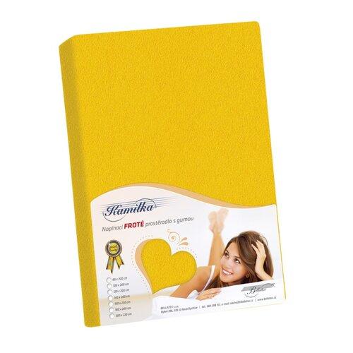 Kamilka frottír lepedő sárga, 90 x 200 cm