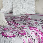 Prehoz na posteľ Laissa ružová, 240 x 220 cm