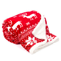 Pătură din imitaţie lână Ren, roşu, 150 x 200 cm