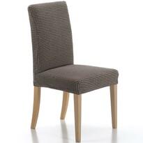 Multielastyczny pokrowiec na krzesło brązowy, 40 - 50 cm, zestaw 2 szt.