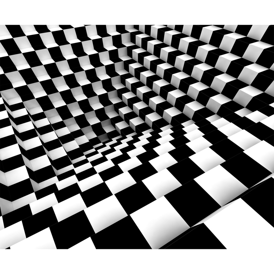 AG Art Fototapeta XXL Black & White Abstract 360 x 270 cm, 4 díly