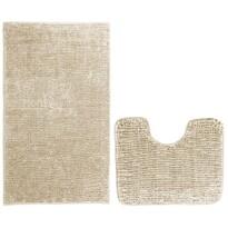 AmeliaHome Set de covorașe baie Bati bej, 2 buc 50 x 80 cm, 40 x 50 cm