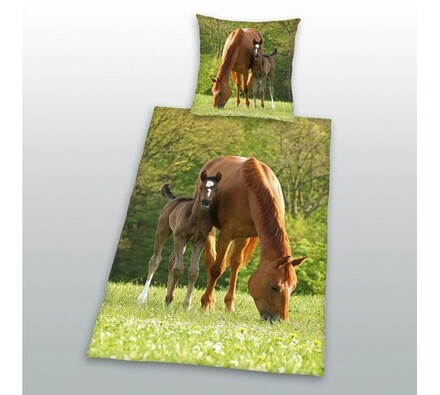 Bavlněné povlečení Koně, 70 x 90 cm, 140 x 200 cm