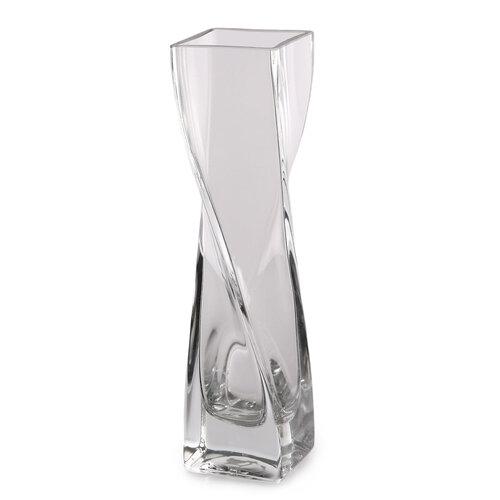 Altom Skleněná Váza vinutá Silvia, 5 x 20 cm