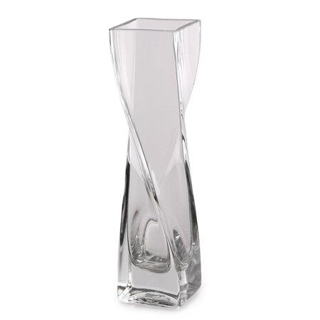Altom Silvia Üveg váza, ívelt, 5 x 20 cm