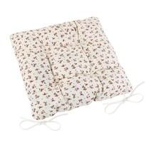 Pernă de scaun matlasată Adéla Trandafir, 40 x 40 cm