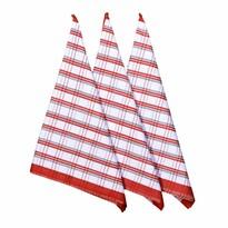 Ścierka kuchenna Red, 50 x 70 cm, zestaw 3 szt.