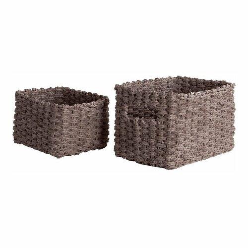 Compactor Set pletených košíků Compactor Lisou, 2 dílný - šedý