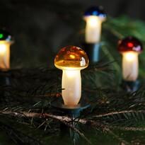 Lampki choinkowe Muchomorek kolor, 12 żarówek