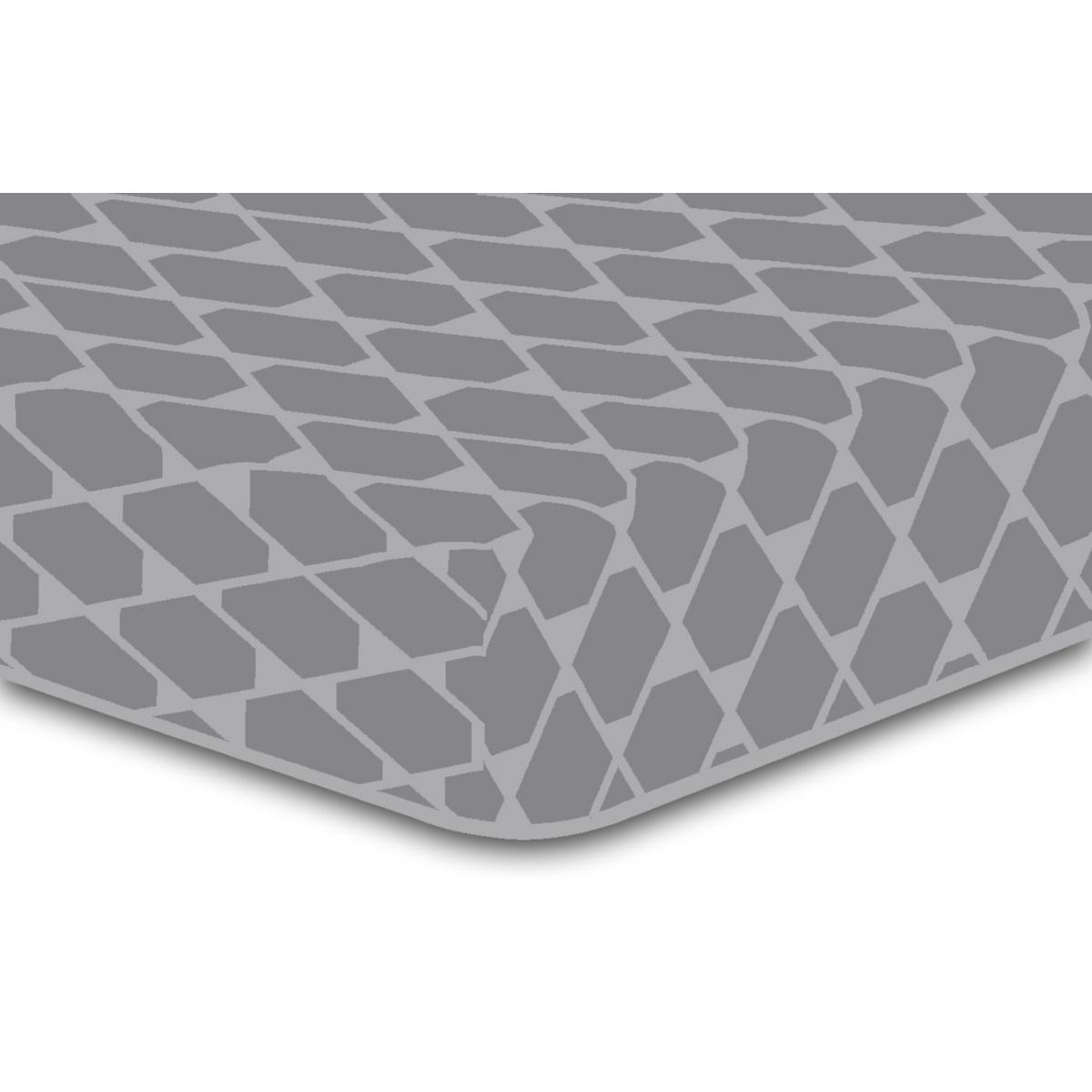 DecoKing Prześcieradło Rhombuses szare S2, 90 x 200 cm