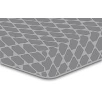 Cearșaf DecoKing Rhombuses, gri S2, 90 x 200 cm