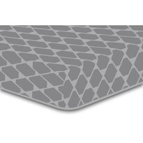 DecoKing Prostěradlo Rhombuses šedá S2, 90 x 200 cm