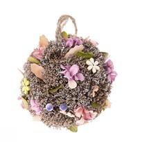 Glob suspendat, cu flori artificiale Leerdam,diam. 11 cm