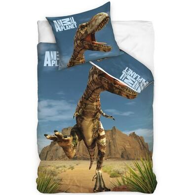 Bavlněné povlečení Animal Planet - T-rex na poušti, 140 x 200 cm, 70 x 80 cm