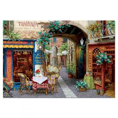 Puzzle Hostinec Tre Marchetti, 1000 dílků, vícebarevná
