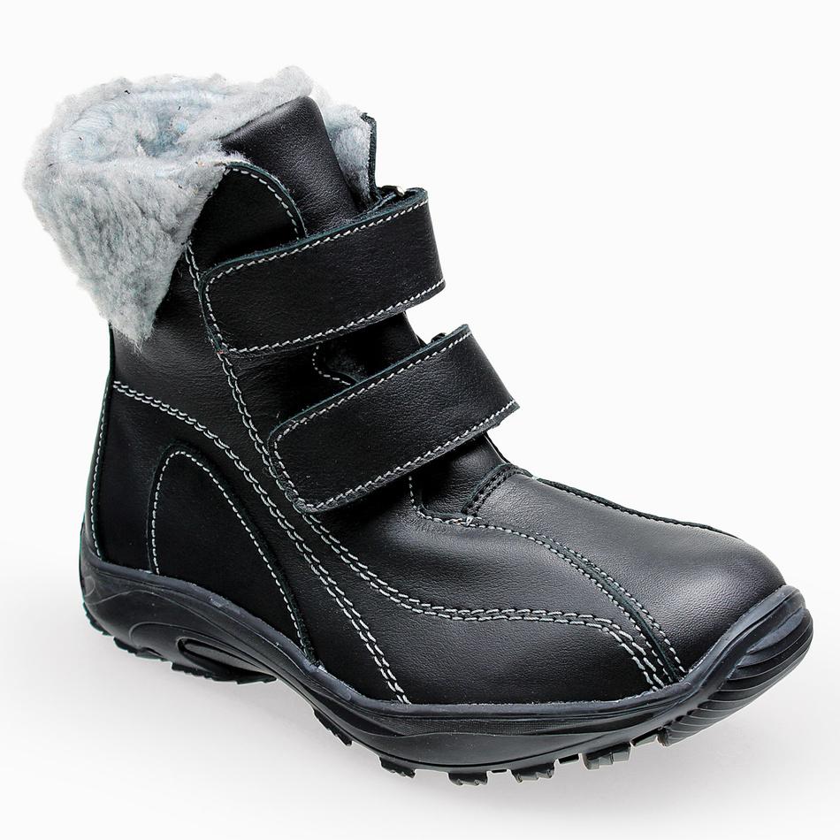 Santé dámská zimní obuv na suchý zip, černá