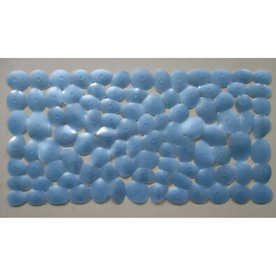 Protiskluzová podložka do vany Stone modrá, 71 x 36 cm