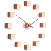 Ceas de design Future Time FT3000CO Cubic copper, autoadeziv, diam. 50 cm