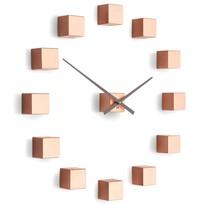 Future Time FT3000CO Cubic copper Designové samolepiace hodiny, pr. 50 cm