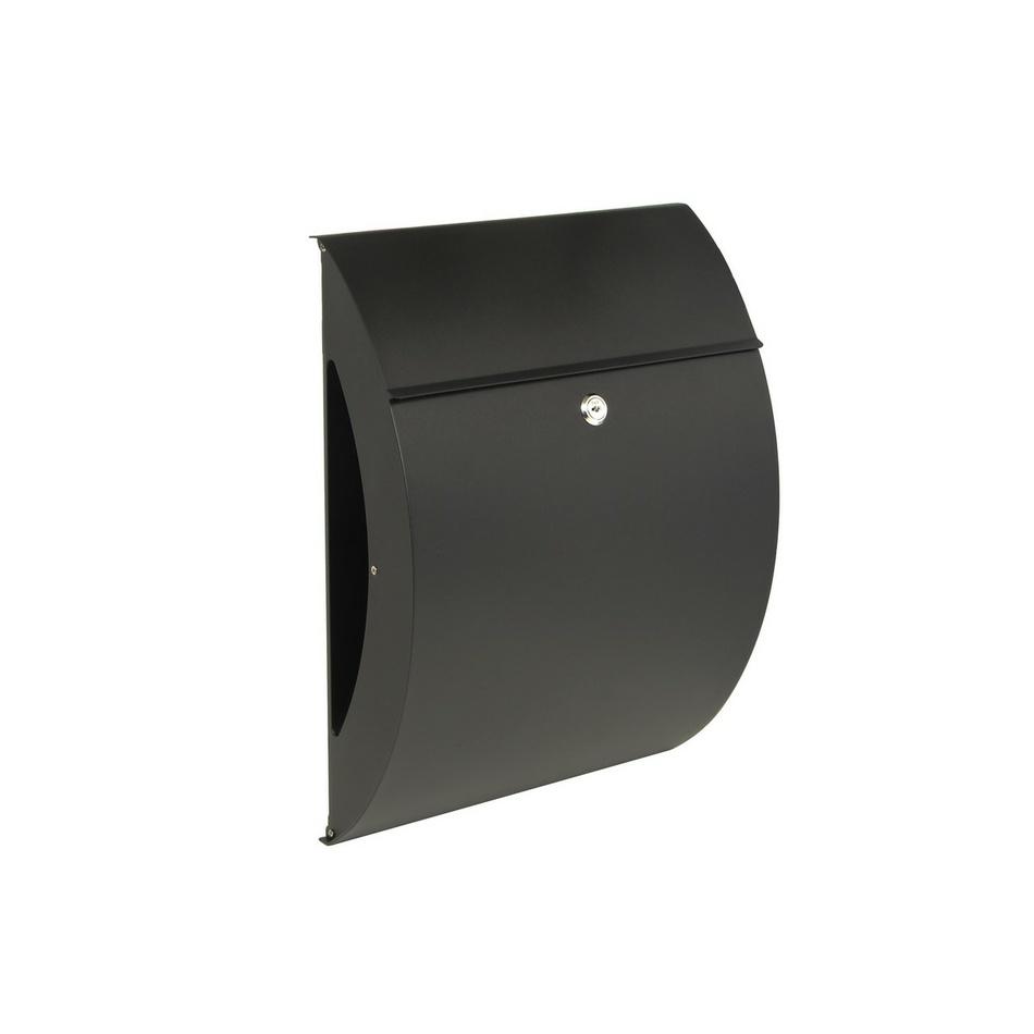 Richter Poštovní ocelová schránka Bilbao, černá