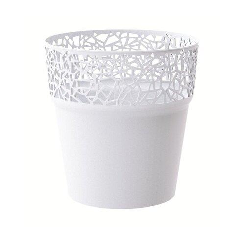 Prosperplast Obal na květináč Tree bílá, pr. 14,5 cm
