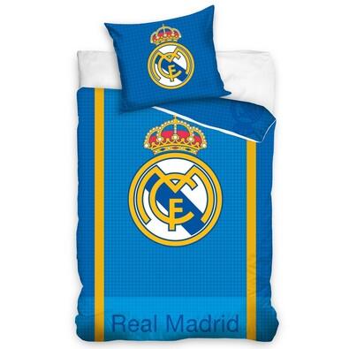 Bavlněné povlečení Real Madrid Blue, 140 x 200 cm, 70 x 80 cm