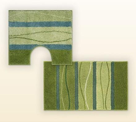 Koupelnová předložka + WC předložka GRUND zelená, , zelená