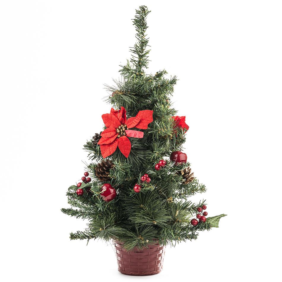 Vianočný stromček zdobený 55 cm, HTH