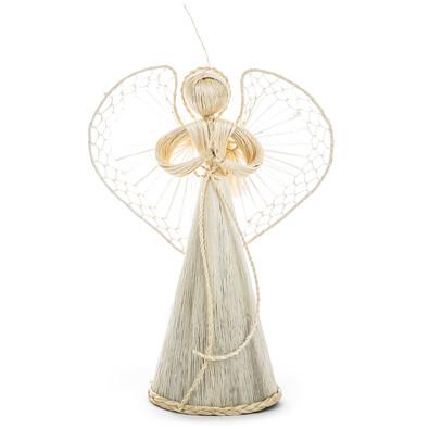Závěsný slaměný anděl 25 cm