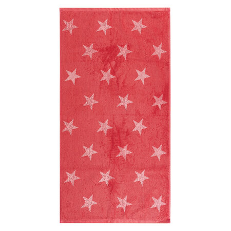Ručník Stars růžová, 50 x 100 cm