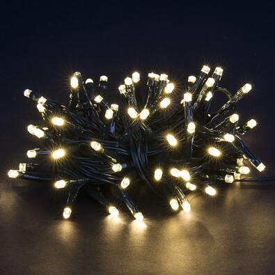 Vianočná svetelná reťaz, teplá biela, 80 LED