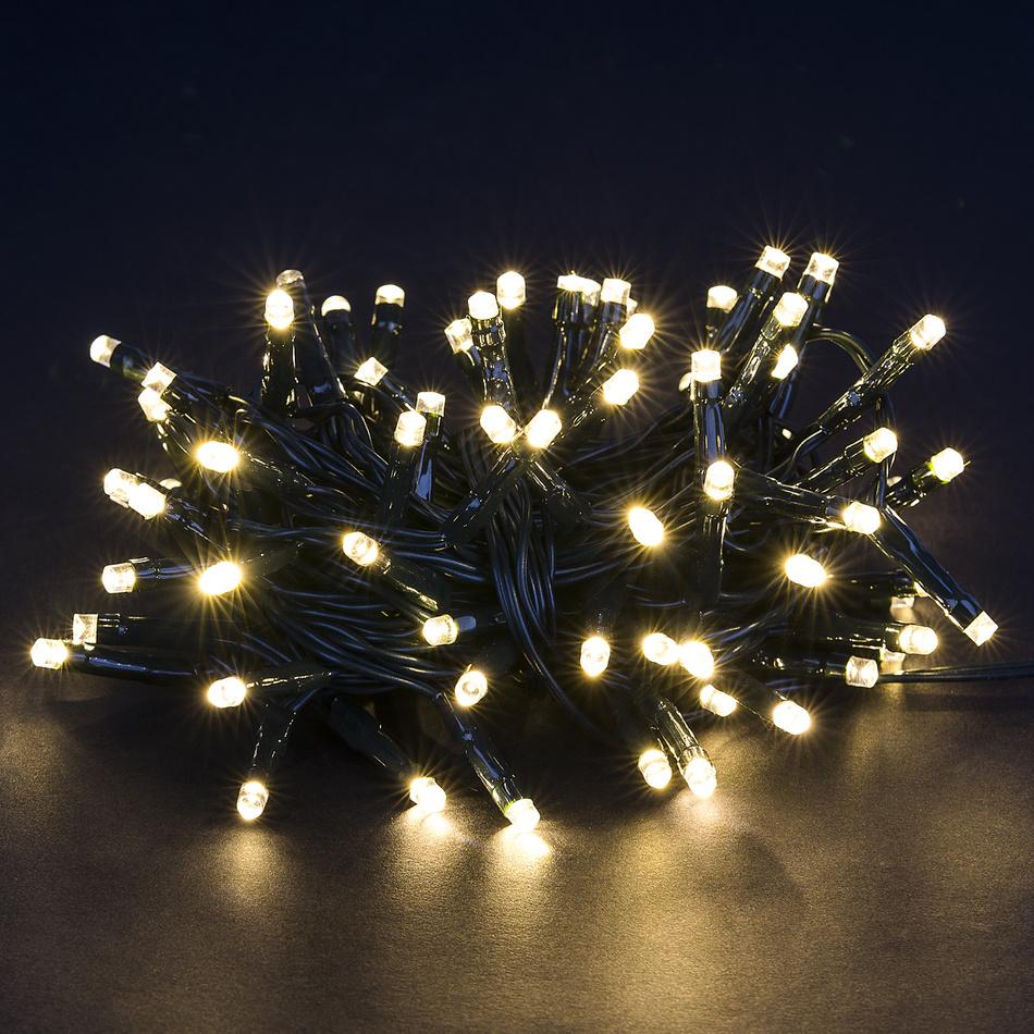 Vánoční světelný řetěz, teplá bílá, 80 LED,