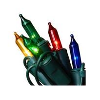 Venkovní řetěz barevná, 80 žárovek