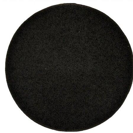 Dywan pojedynczy Elite Shaggy okrągły czarny, średnica 120 cm