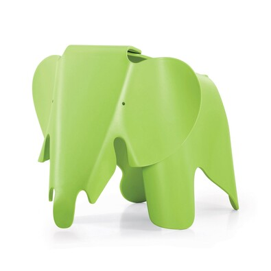 Dětská sedačka EEL Eames Elephant, tmavá limeta