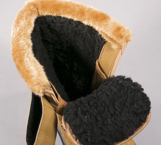 Zimní obuv s kožíškem, hnědá, 41