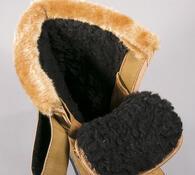 Zimní obuv s kožíškem, černá, 41