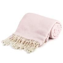 Altom pamut takaró szegéllyel, rózsaszín, 130 x 170 cm