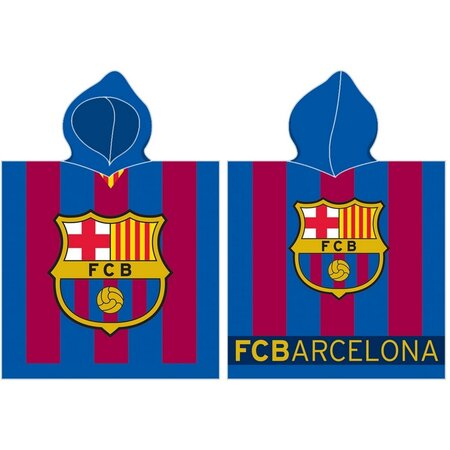 Detské pončo FC Barcelona stripes, 50 x 100 cm