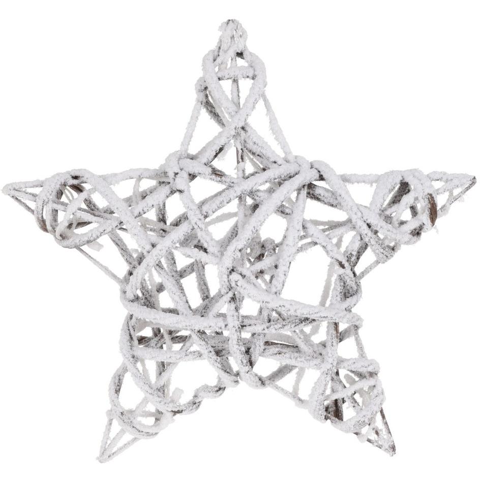 Vánoční LED hvězda bílá, 40 x 10 cm