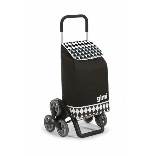 Nákupná taška na kolieskach GIMI Tris Optical čierna, 56 l