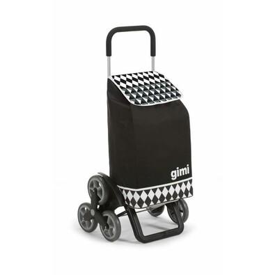 Gimi Nákupná taška na kolieskach Tris Optical čierna, 56 l
