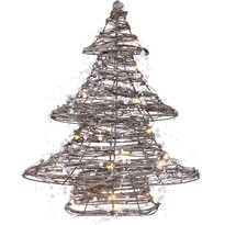 Ratanový svietiaci stromček s 30 LED, 38 cm, teplá biela