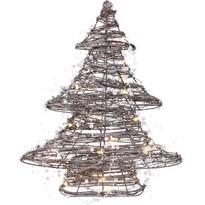 Ratanový svítící stromek s 30 LED, 38 cm, teplá bílá