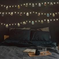 LED-es fényfüzér kapcsokkal, 9,35 m