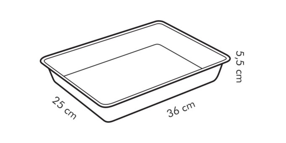 Produktové foto Tescoma DELÍCIA hluboký plech na pečení 36 x 25 cm