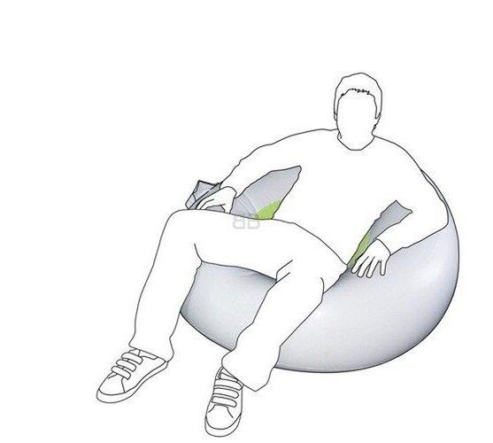 Hudobné nafukovacie relaxačné kreslo