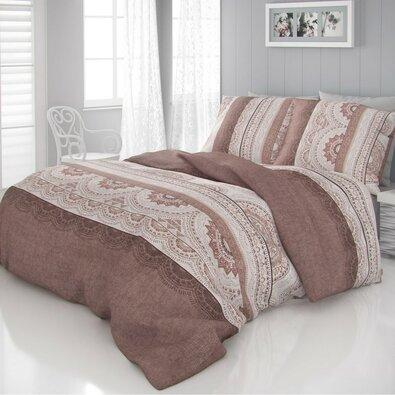 Kvalitex Saténové povlečení Luxury Collection Carmela béžová, 140 x 200 cm, 70 x 90 cm