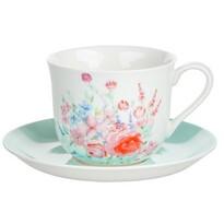 Altom Porcelánový šálek s podšálkem Pastelový květ 430 ml